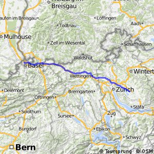 Cycling routes and bike maps in and around Uster Bikemap Your