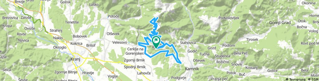 Apno, via Kamnik to Krvacec