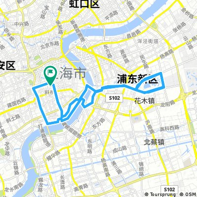 Lange Radrunde durch Shanghai