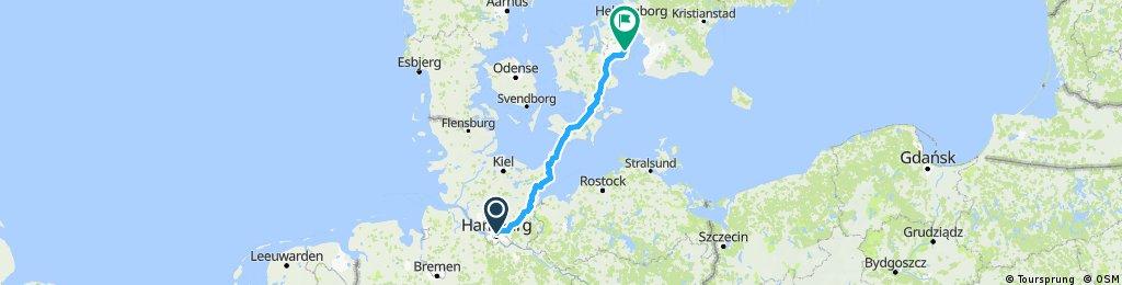 Hamburg - Kopenhagen (über Lübeck)