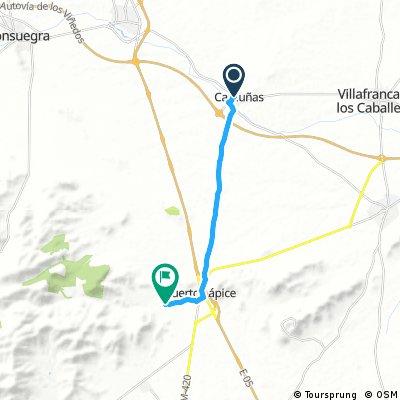 bike tour from Camuñas to Puerto Lápice