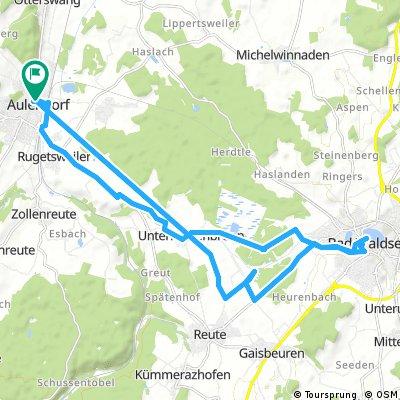 Aulendorf n. Bad Waldsee u. Zurück