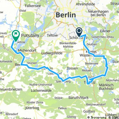 494. Dahme-Radweg, Schweriner Horst und <1813> Sperenberg