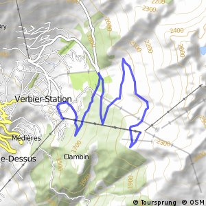 Cycling routes and bike maps in and around Verbier Bikemap Your