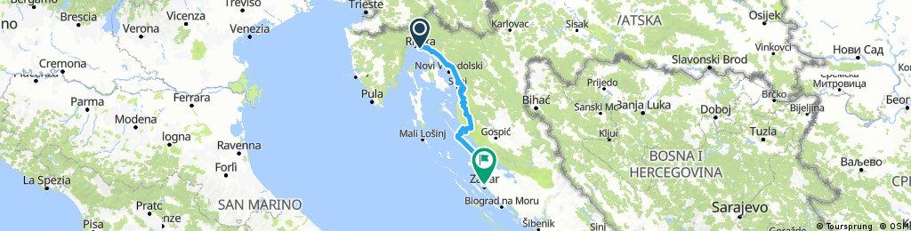 Kroatien entlang der Kueste