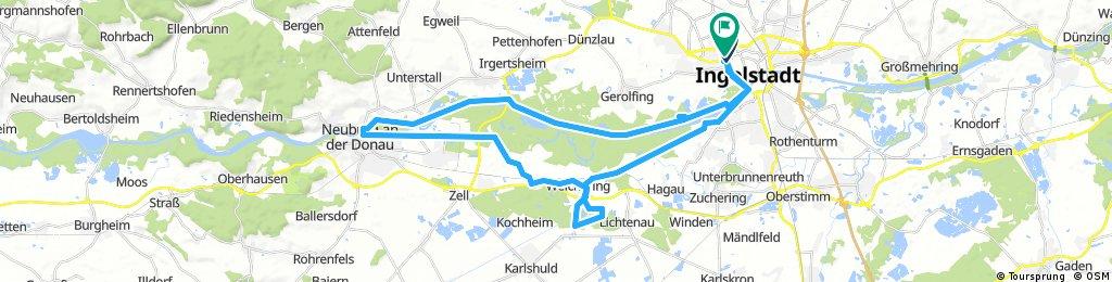 Ingolstadt - Weicheringersee - Neuburg a.D. - Ingolstadt