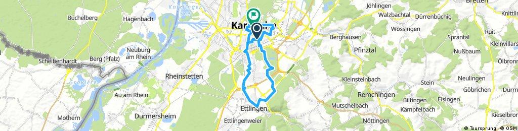 Citytour von Karlsruhe nach Ettlingen