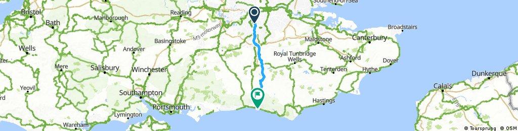Lengthy ride through Brighton