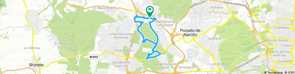ride through Majadahonda