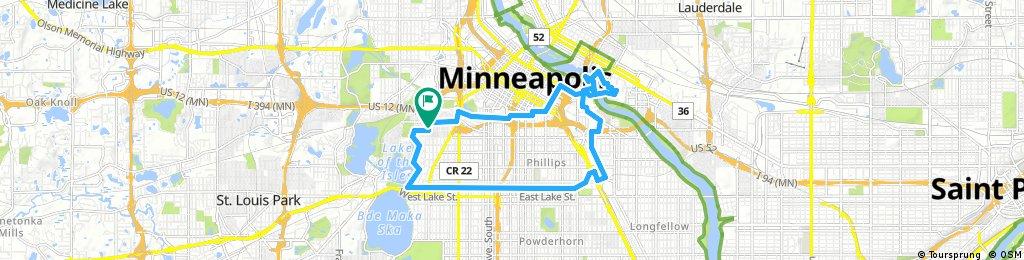 ride through Minneapolis