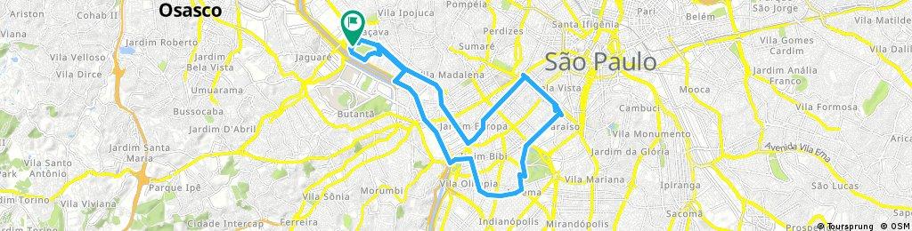 Lengthy ride through São Paulo