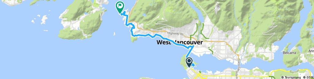 bike tour through West Vancouver