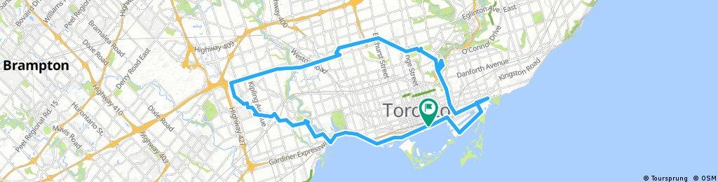 Lengthy ride through Toronto