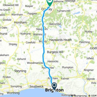 Lengthy bike tour through Crawley