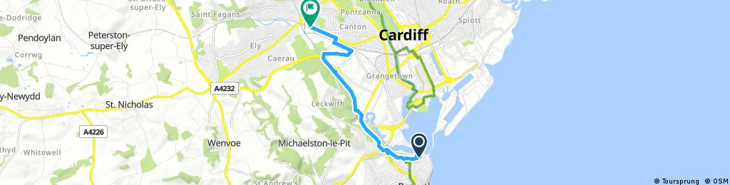 Short bike tour through Cardiff