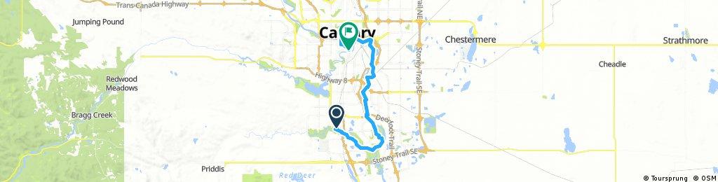 Lengthy ride through Calgary
