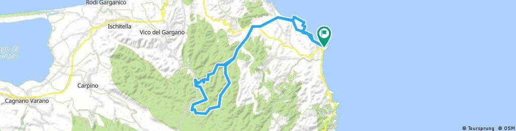 Giro estivo in MTB: Vieste - Foresta Umbra a/r. Misto sterrato asfalto