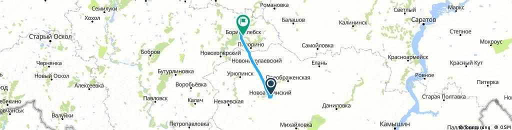 2017_08_21_Von Novoanninsky (Новоаннинский) nach Borisoglebsk (Борисоглебск)
