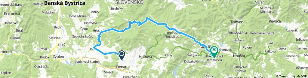 Detva - Kokava, cez sedlo Jasenová