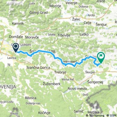 Ljubljana-Litija-Gabrovka-Mirna-Sevnica-Veliki Trn