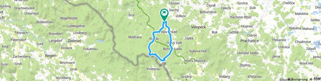 Zadov-Borova Lada-Knižecí Plane-Kvilda
