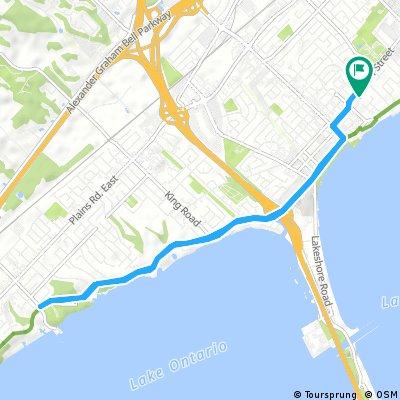 bike tour through Burlington
