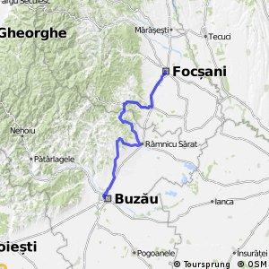 Discover Hilly Bike Tour Through Focşani Bikemap Your Bike Routes - Focşani map