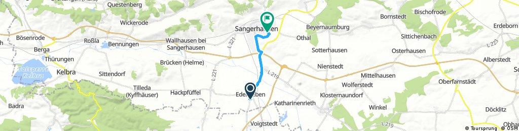 Schnelle Radrunde durch Sangerhausen
