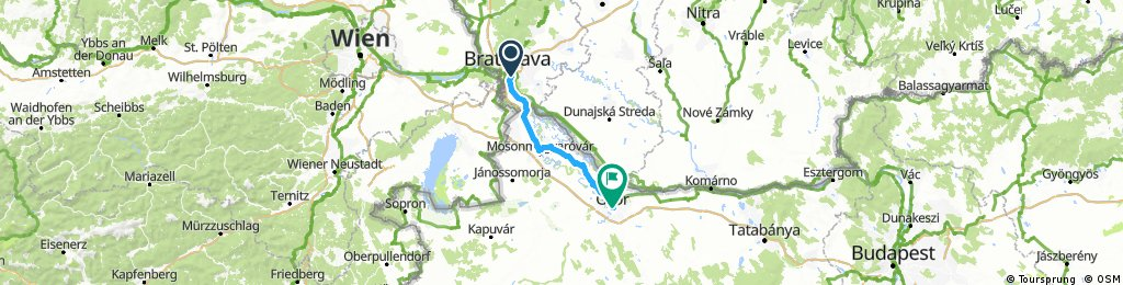 Long ride through Győr