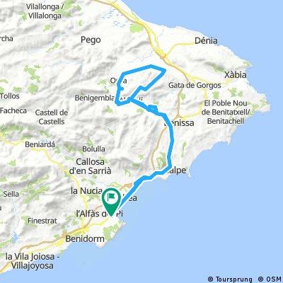 INTERIOR MARINA ALTA (ruta 1)