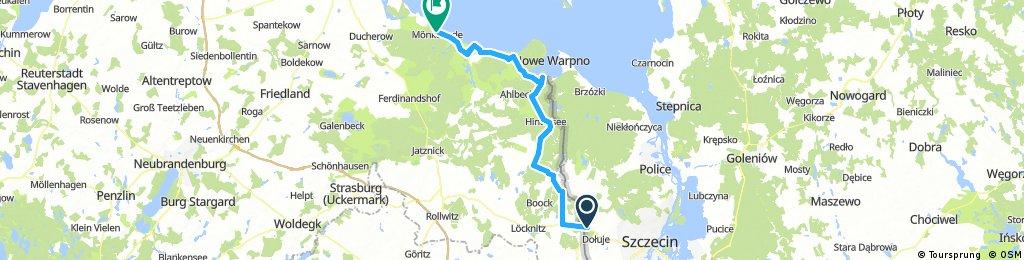 Odra Nysa: Lubieszyn - Monkebude = 73 km