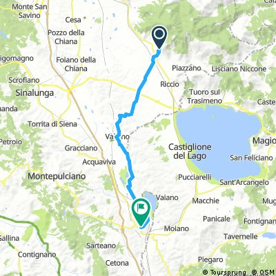 Cycling routes and bike maps in and around Cortona | Bikemap - Your ...