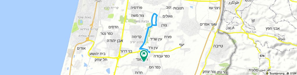 ride through Tel Mond around back Kadima