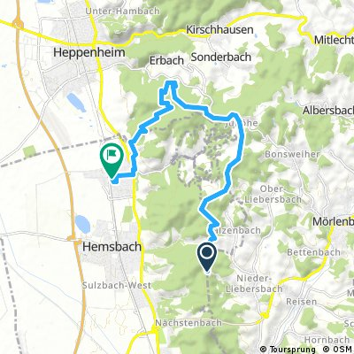 Ausfahrt von Birkenau nach Laudenbach