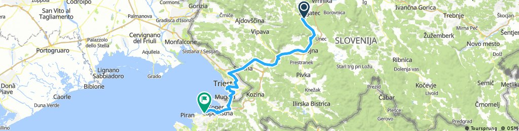 Ljubljana to Izola / Isola