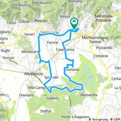 Anello Montecatini - Padule - Villa Campanile - Marginone - Pescia - Montecatini