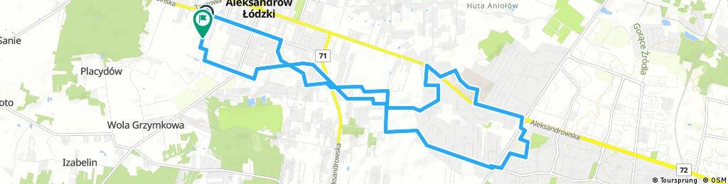 ride through Aleksandrów Łódzki