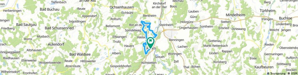 Aitrach - Rappenbach-Stausee - Rot-Zell - Tannheim - Aitrach