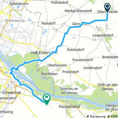 Lange Radrunde durch Gemeinde Schwechat