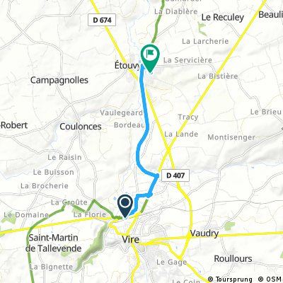 Brief ride through Souleuvre-en-Bocage