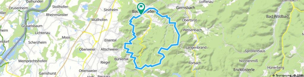Lange Radrunde um Baden-Baden über Plättig und Rote Lache