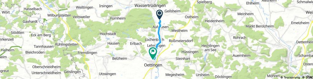 Kurze Ausfahrt von Wassertrüdingen nach Oettingen in Bayern