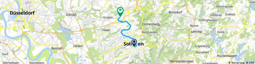 Korkenziehertrasse Solingen - Wuppertal