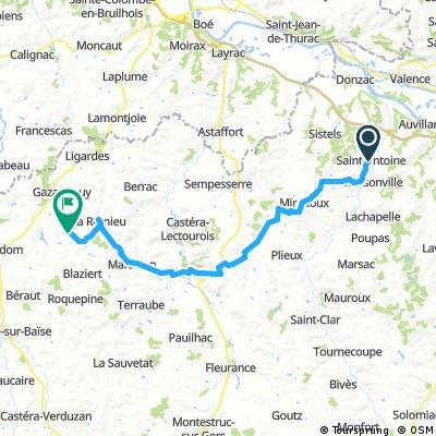 Vía Podiense 11. St Antoine sur l´Arrats - Castelnau sur Avignon