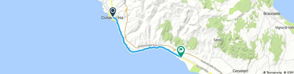 ride through Santa Marinella