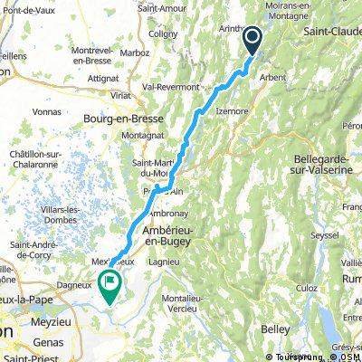 Condes -Saint-Maurice-de-Gourdans 83km