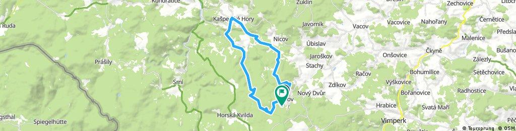 Churáňov-Kašperské Hory-Pěnivý potok-Churáňov
