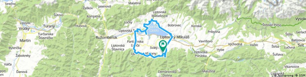 Pavčina Lehota - Part.Ľupča - Bešeňová - Liptovský Trnovec - Liptovský Mikuláš - Pavčina Lehota