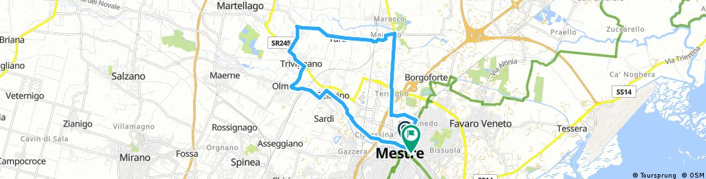 bike tour through Venice