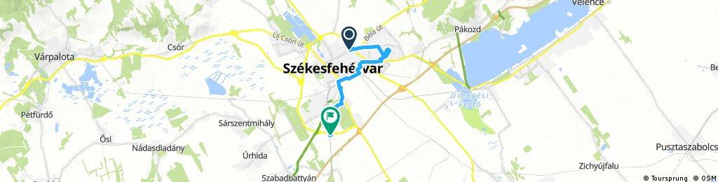 bike tour through Székesfehérvár